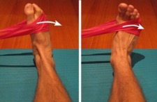 Ankle eversion using bands